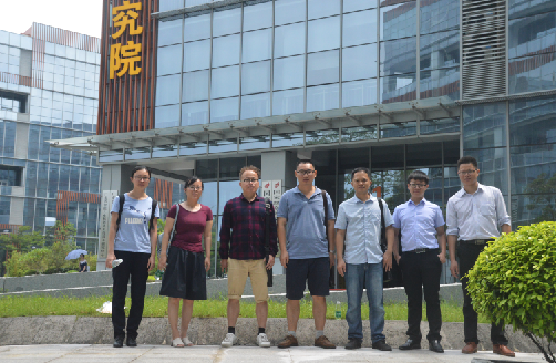 Professor team visit our company to discuss cooperation projects about electrospinning